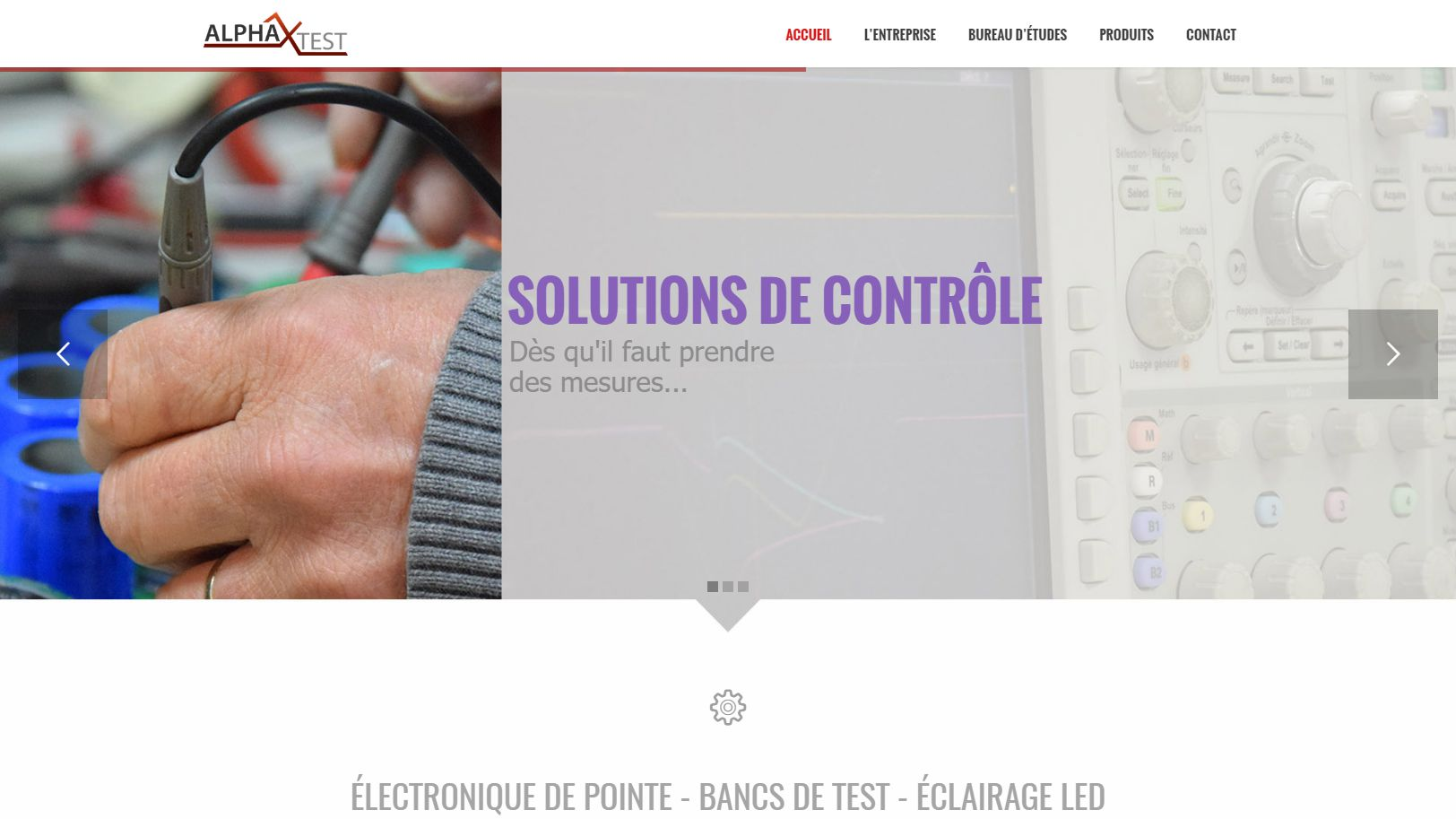 ALPHATEST - Électronique de pointe Bancs de test Éclairage LED