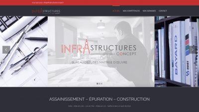 INFRASTRUCTURES CONCEPT - Assainissement Épuration Construction Concept
