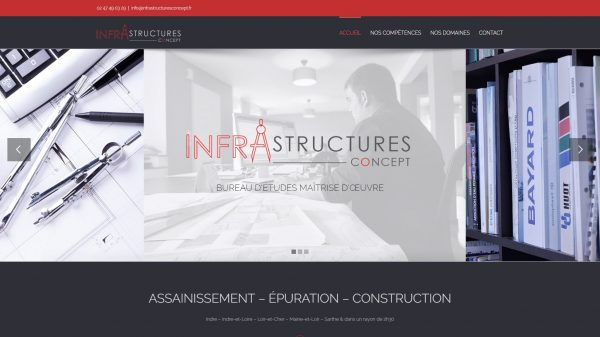 INFRASTRUCTURES CONCEPT - Assainissement Épuration Construction Concept
