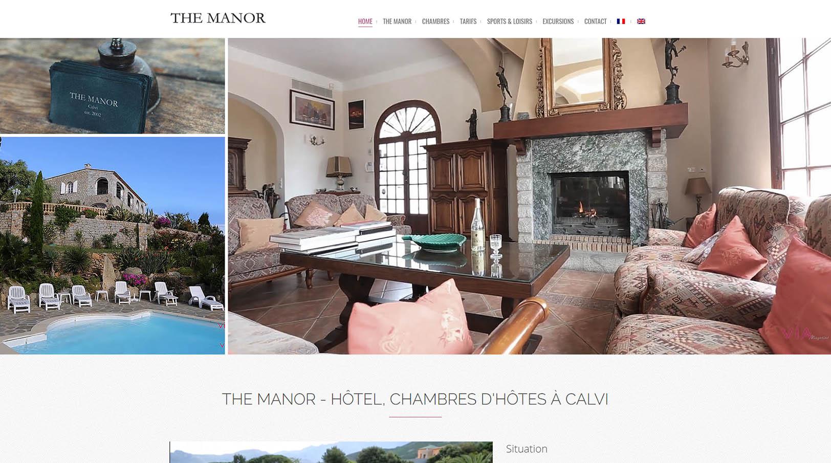 THE MANOR - Chambres d'hôtes à Calvi, Hôtel, Piscine