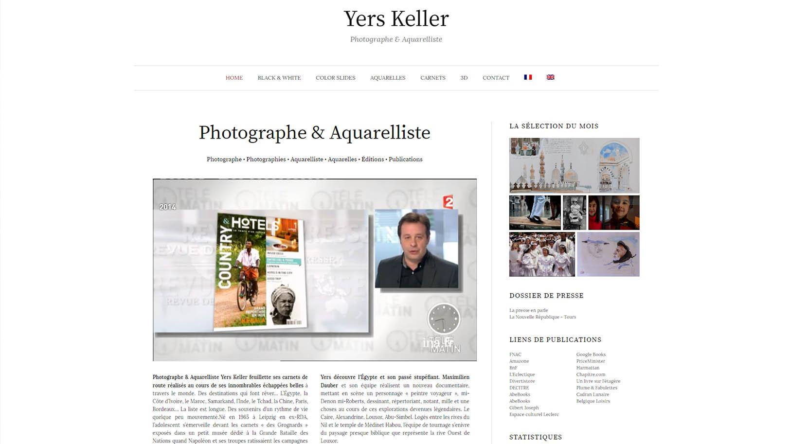 Yers Keller - Photographe Aquarelliste Carnetiste
