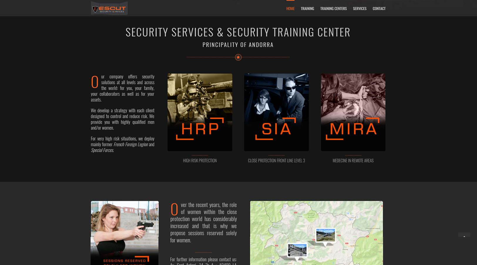 Security Services Training Center Andorra MIRA, SIA, HRP