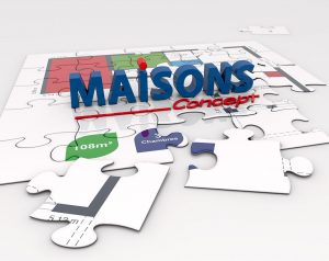 Maison Concept - Panneau central Kit Stand Expositions & Salons