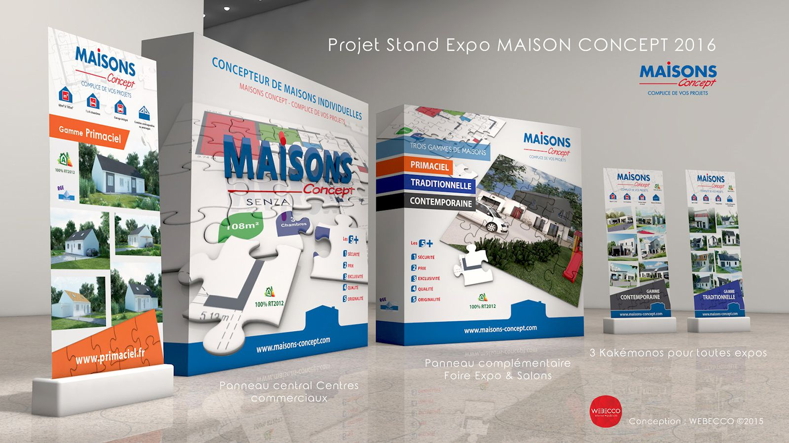 Maison Concept - Conception d'un Kit Stand d'Exposition & Salons