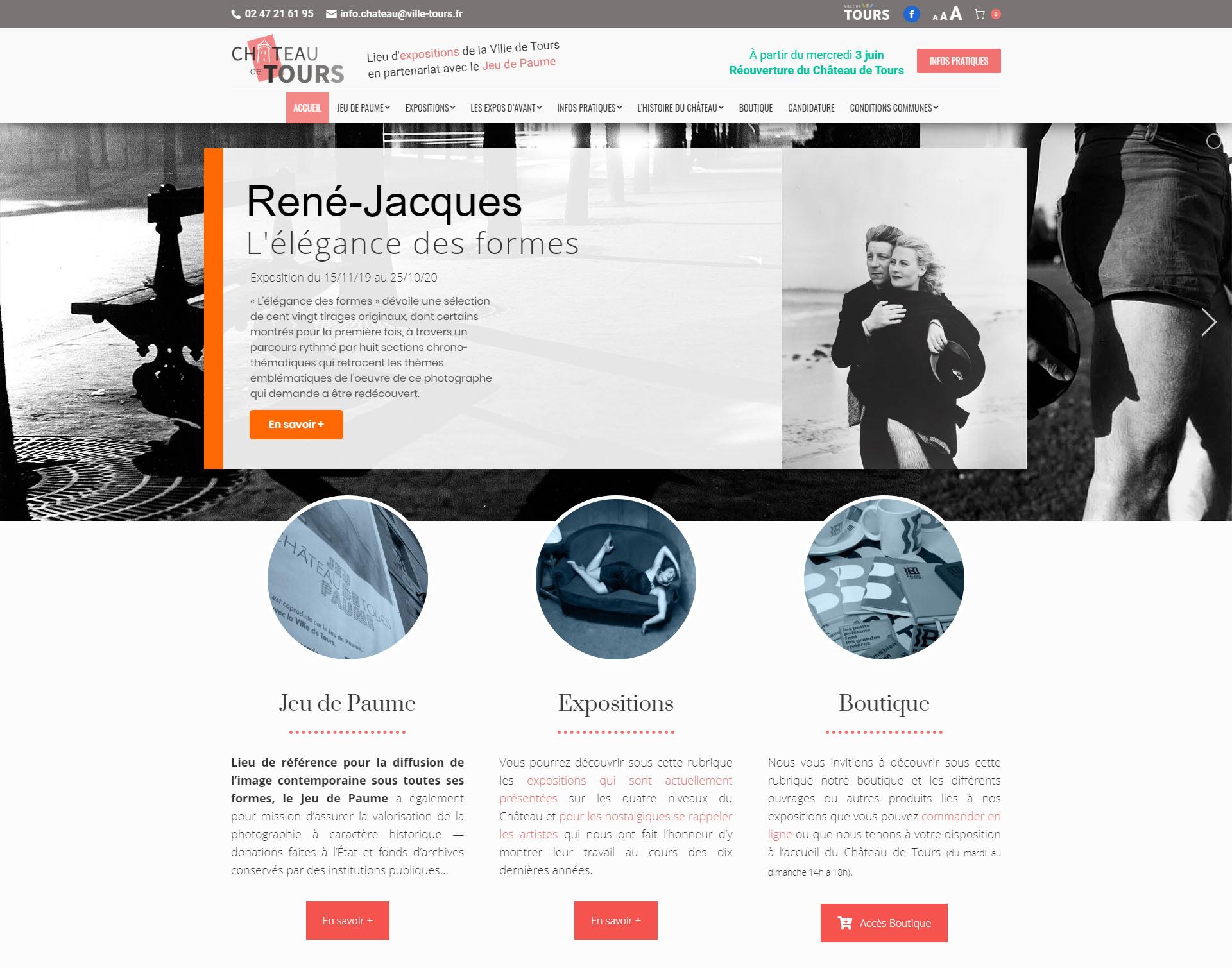 Site internet du Château de Tours