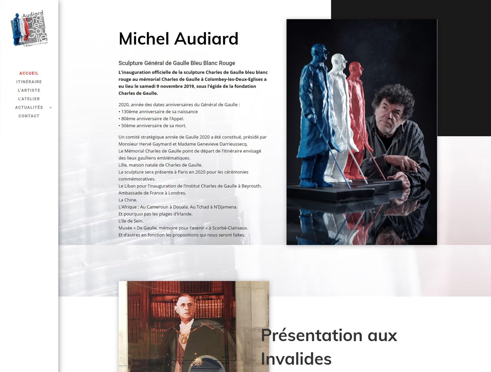 Site internet De Gaulle Bleu Blanc Rouge