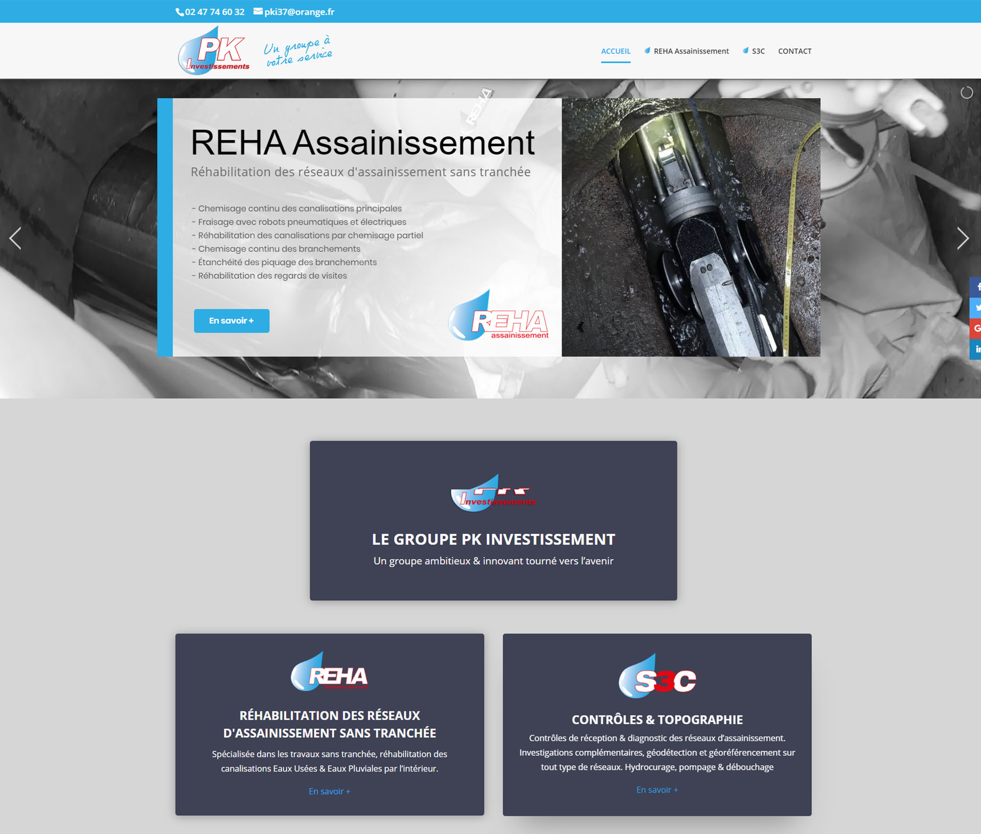 Site internet REHA Assainissement